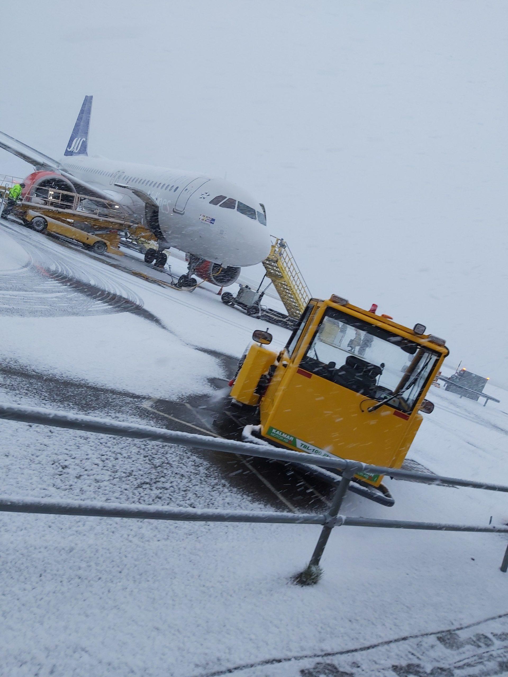 Första snön i Umeå